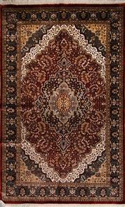 Sale 8447C - Lot 28 - Indian Silk & Wool 240cm x 150cm