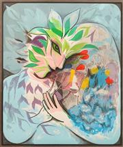 Sale 8652 - Lot 533 - Charles Blackman (1928 - 2018) - Midsummers Night Dream 86.5 x 73cm