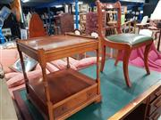 Sale 8744 - Lot 1071 - Timber Dining Chair With A Single Drawer Side Table