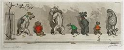 Sale 9142A - Lot 5075 - BORIS OKLEIN (1893 - 1985) - Comme nos Maitres (Like our Masters) 22 x 50 cm (frame: 24.5 x 52.5 cm)