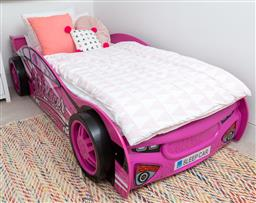 Sale 9150H - Lot 89 - A luxury sports girl racer car form single bed, width 95.5cm x length 190cm