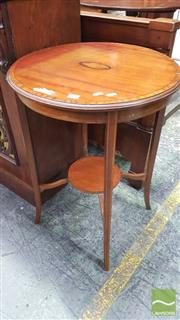 Sale 8375 - Lot 1031 - Early C20th Mahogany & Inlaid Occasional Table, with shell cameo