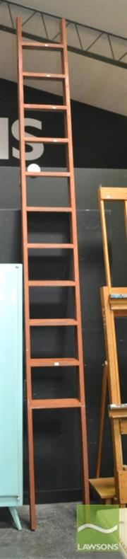 Sale 8440 - Lot 1013 - Large Timber Ladder ( Approx 5m)