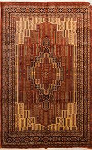 Sale 8447C - Lot 29 - Indian Silk & Wool 250cm x 155cm