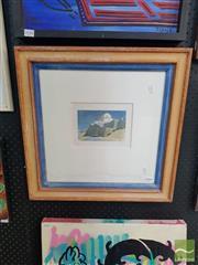 Sale 8552 - Lot 2048 - E. N . Ellis - Fort Beach, 1985 10 x 15cm