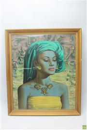 Sale 8644 - Lot 20 - Tretchikoff Balinese Girl Framed Print