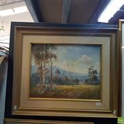 Sale 8636 - Lot 2026 - P. Kuneman - OConnell Landscape, oil on board, 54 x 64cm (frame), signed lower left -