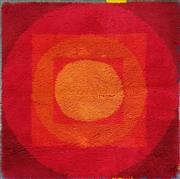 Sale 8741 - Lot 1069 - Woolen 1960s Vorwerk Retro Rug (87cm2)