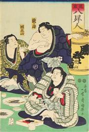 Sale 8777A - Lot 5017 - Kuniteru Utagawa (1808 - 1876) - 36 x 25cm (frame: 53 x 42cm)