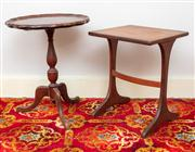 Sale 8804A - Lot 131 - Two timber occasional tables, tallest 52cm