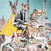 Sale 9034A - Lot 5087 - Gillie and Marc - Parisian Carousel 51 x 51 cm (frame: 83 x 83 x 3 cm)