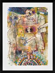 Sale 8401 - Lot 517 - Theo Tobiasse (1927 - 2012) - Je vous ai fait aller quarante ans, 1974 96 x 67.5cm (frame size: 119 x 90cm)