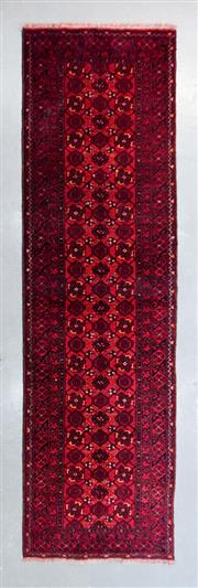 Sale 8480C - Lot 59 - Approx. 30 Years Old Vintage Qunduzi Runner 275cm x 90cm