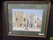 Sale 8557 - Lot 2037 - Willhelm Winkler (1882 - 1964) - Campo D-Abbazia Venice 23 x 31cm