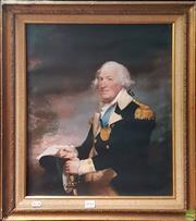 Sale 8595 - Lot 2041 - Portrait of an Admiral, print on canvas, 50 x 40cm