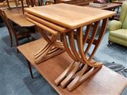 Sale 8741 - Lot 1032 - Nathan Teak Nest of Tables