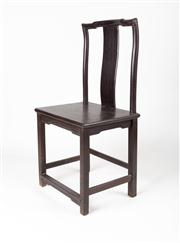 Sale 8716A - Lot 83 - A well constructed Oriental occasional chair constructed from a very heavy dark timber, the carving and joinery typical of tradition...