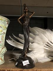Sale 8766 - Lot 54 - Cast Metal Figure of A Lady ( H 33cm)