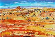Sale 8791 - Lot 582 - Peter McQueeny (1941 - ) - Outback 60.5 x 97cm