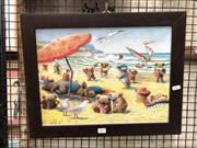 Sale 8816 - Lot 2042 - Print of Koala Bears at the Beach