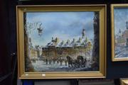 Sale 8410T - Lot 2002 - Artist Unknown (XX) - Wartime Scene 64 x 80cm (frame size)