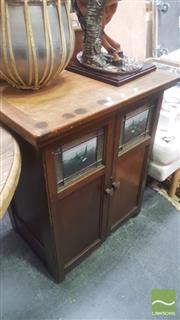 Sale 8424 - Lot 1007 - Blue Bird Sewing Machine in Cabinet