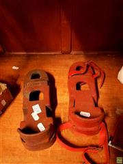 Sale 8582 - Lot 2328 - Pair of Vintage Diving Iron Shoes