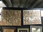 Sale 8797 - Lot 2073 - Group of (4) South East Asian Artworks incl. Indonesian Paintings (3) & Portrait of a Vietnamese Elder