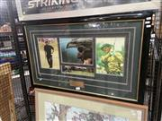Sale 8888 - Lot 2092 - Framed Greg Norman Wall Hanging