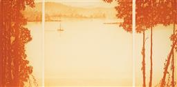 Sale 9099A - Lot 5034 - Peter Hickey (1943 - ) - Sunset Mooring, 1991 39 x 80 cm (sheet size: 56 x 90 cm)