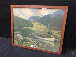 Sale 9053 - Lot 2068 - J H Craig, Connemara, decorative print, frame: 48 x 58 cm