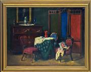 Sale 8349A - Lot 87 - Czene Janos Apatfalvi (1904 - 1984) - Interior Study 59 x 79cm