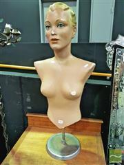 Sale 8424 - Lot 1006 - Vintage 1950s Female Bust on Stand