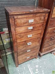 Sale 8585 - Lot 1698 - Timber Chest of Six Drawers (126 x 62 x 40cm)