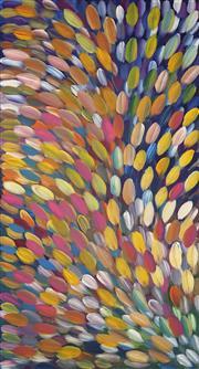 Sale 8696 - Lot 537 - Gloria Petyarre (c1945 - ) - Bush Medicine Leaves 197 x 107cm