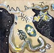 Sale 8716 - Lot 2024 - Martin (Michelle) Collocott (1945 - ) - Untitled, 1983 19 x 19cm