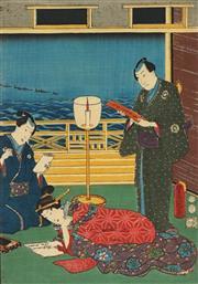 Sale 8777A - Lot 5020 - Toyokuni Utagawa III (1786 - 1865) - 36 x 25cm (frame: 53 x 42cm)