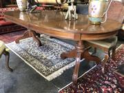 Sale 8805 - Lot 1035 - Timber Extension Dining Table with Single Leaf