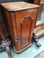 Sale 8868 - Lot 1132 - Victorian Burr Walnut Bedside Cabinet, with single shaped panel door