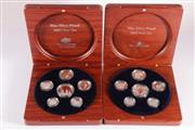 Sale 9035M - Lot 871 - Fine Silver Proof 2003 Year Set with certificate of authenticity, no.4964/6500 together with a 2005 example with certificate of auth...