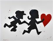 Sale 9072A - Lot 5013 - Mark Hanham (1978 - ) - Chasing Love (Pop Heart Series) 82 x 102 cm (frame: 103 x 126 cm)