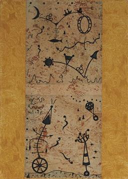 Sale 9111 - Lot 2069 - Christina Cordero (1938 - ) (4 works) - Triple Leap; Stories of Whales; Matilda; Untitled 2007 - 2008 18 x 13 cm (2); 13 x 13 cm; 18...
