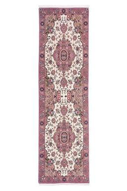 Sale 9124C - Lot 39 - Persian Fine Wool & Silk Tabriz, 50 Raj, 85x300cm, Handspun Wool