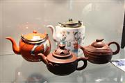 Sale 8308 - Lot 83 - Yixing Pair of Teapots with Others (4)