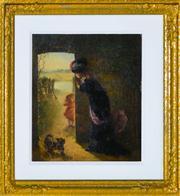 Sale 8349 - Lot 588 - George Rosenberg (XIX) - Sunny Hours 34 x 29cm