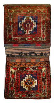 Sale 8353C - Lot 62 - Persian Saddle Bag 145cm x 70cm