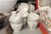 Sale 8369 - Lot 81 - Royal Doulton Cadence Coffee Cup & Saucers with Spare Saucers (9)