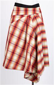 Sale 8640F - Lot 80 - An MSGM, Milano 100% wool tartan patterned skirt, size 44.