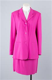 Sale 8685F - Lot 49 - A Kate Hill magenta silk blazer (US 8) with matching skirt (US 6)