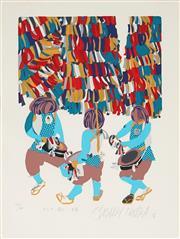 Sale 8794A - Lot 5066 - Masaaki Tanaka (1947 - ) (3 works) - Festival Scenes, 1976 30.5 x 22.5cm each